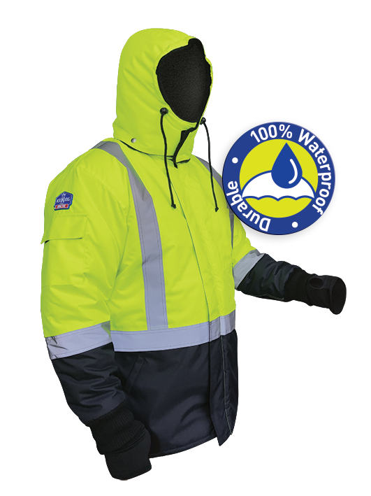Armour Safety Products Ltd. - IceKing Fluro Yellow/Navy Freezer Jacket - Waterproof (2000g/m2/24hr)