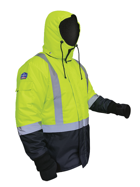 Armour Safety Products Ltd. - IceKing Fluro Yellow/Navy Arctic Freezer Jacket - 2000g/m2/24hr