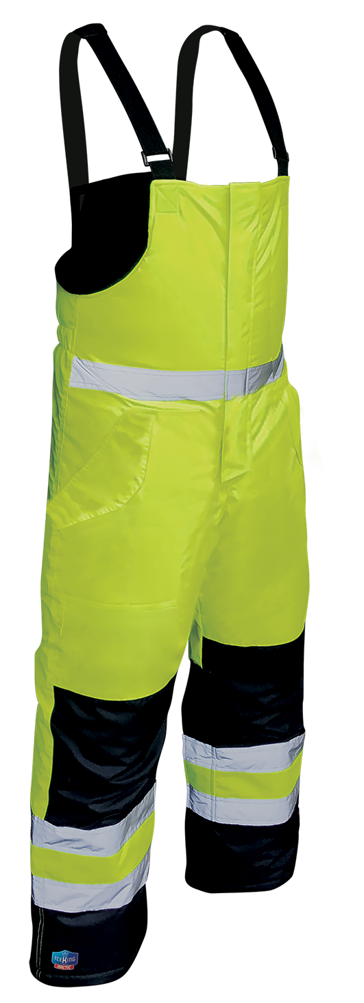 Armour Safety Products Ltd. - IceKing Fluro Yellow/Navy Arctic Freezer Bib Pant - 2000g/m2/24hr