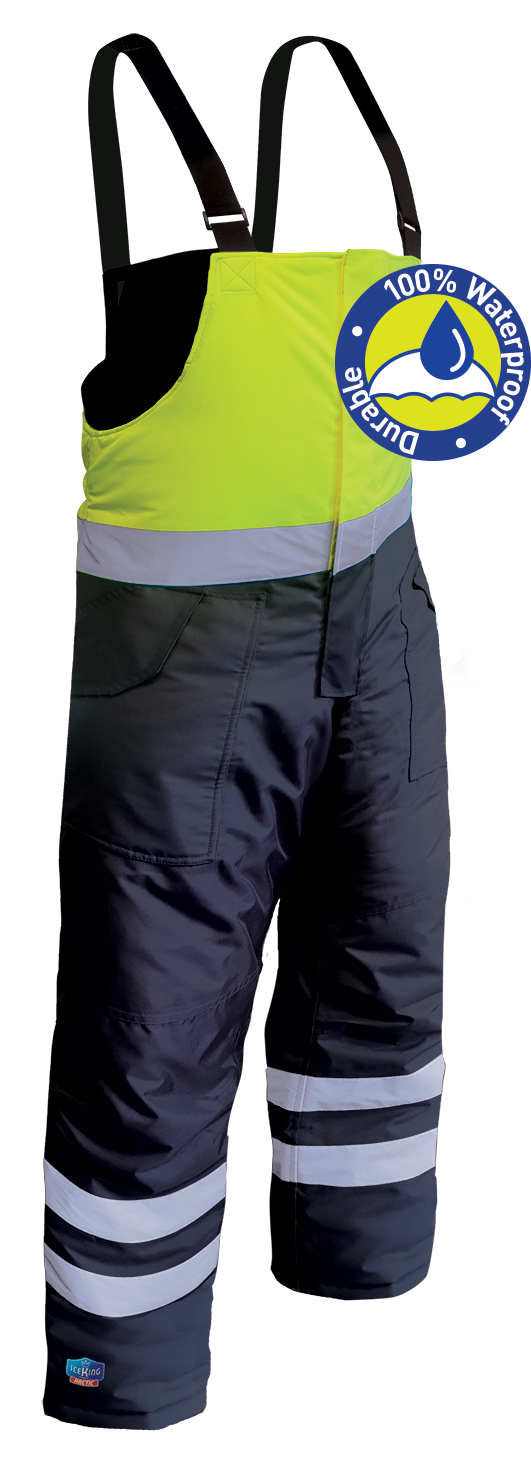Armour Safety Products Ltd. - IceKing Fluro Yellow/Navy Freezer Bib Pant - Waterproof (2000g/m2/24hr)