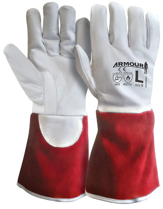 Armour Safety Products Ltd. - Armour® Leather Kevlar Lined Cut 4 Tig Glove - 30cm Red