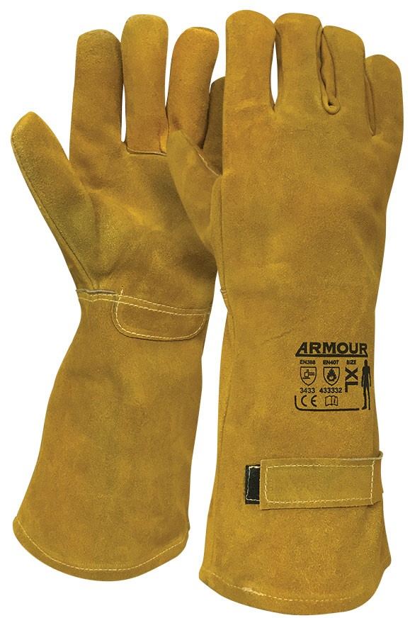 Armour Safety Products Ltd. - Armour® Leather Smelter 350°C Glove - 45cm