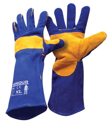 Armour Safety Products Ltd. - Armour® Leather Blue Welding Glove - 40cm