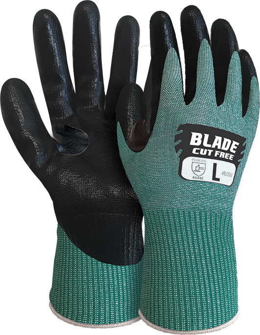 Armour Safety Products Ltd. - BLADE® Flat Nitrile Cut 5 Open Back Glove