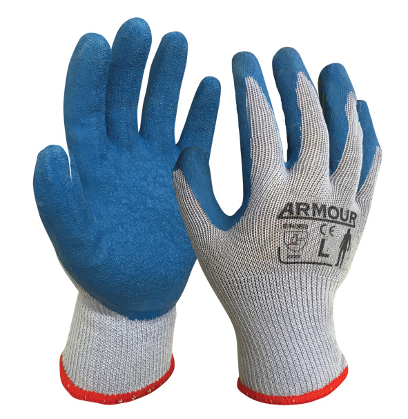 Armour Safety Products Ltd. - Blue/Grey Latex Open Glove