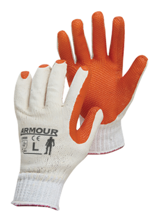 Armour Safety Products Ltd. - Armour® Red Latex Open Back Glove
