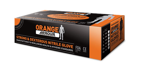 Armour Safety Products Ltd. - Orange Armour Heavy Duty Nitrile Disposable Glove - Powder Free