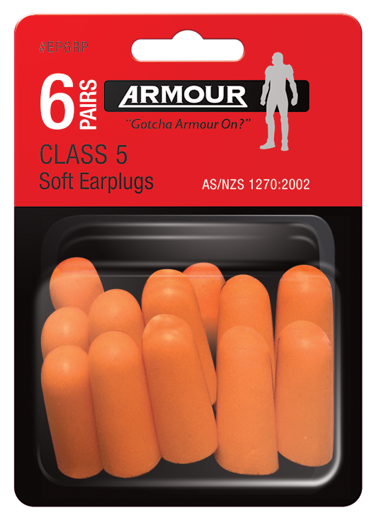 Armour Safety Products Ltd. - Armour® Disposable Ear Plug - Uncorded Retail Pack - Class 5