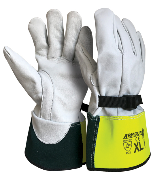 Armour Safety Products Ltd. - Armour® High Voltage Leather Overglove - 30cm