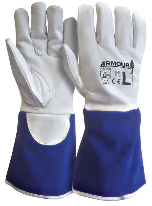 Armour Safety Products Ltd. - ARMOUR Leather Kevlar Lined Cut 4 Tig Glove - 30cm