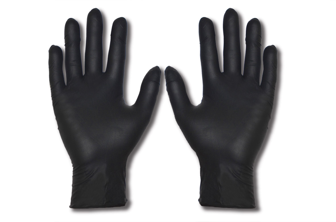 Black Armour Nitrile Disposable Glove Armour Safety
