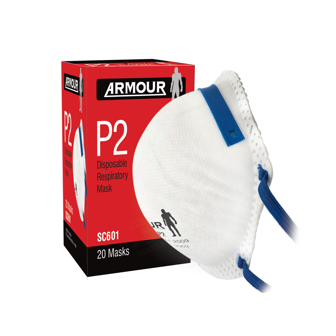 Armour Safety Products Ltd. - Armour Disposable Respirator Non Valve P2 Mask