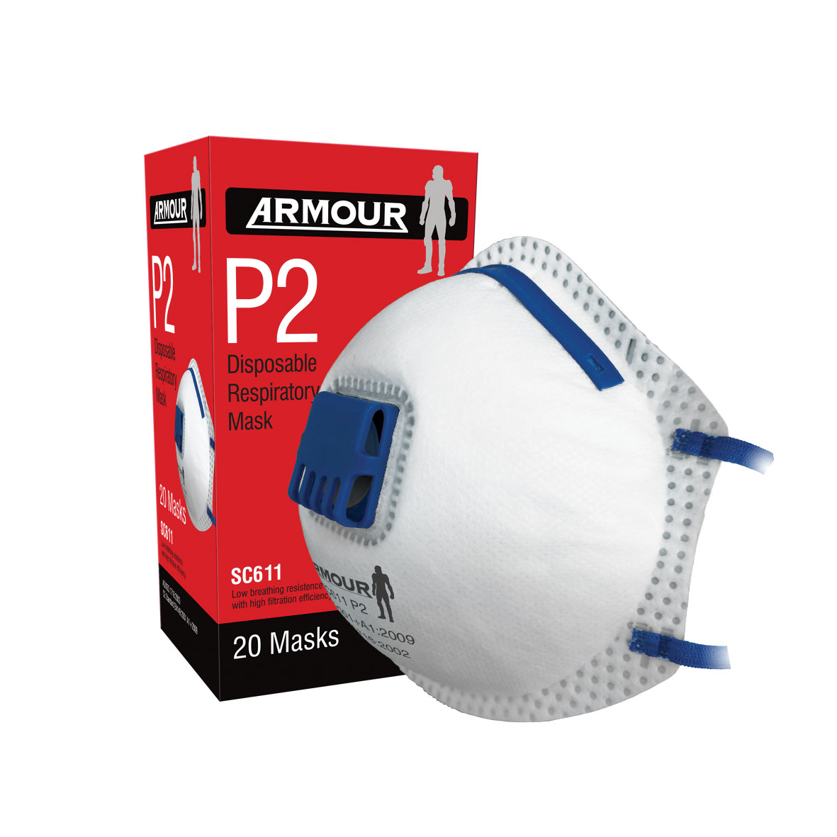 Armour Safety Products Ltd. - Armour Disposable Respirator Valve P2 Mask