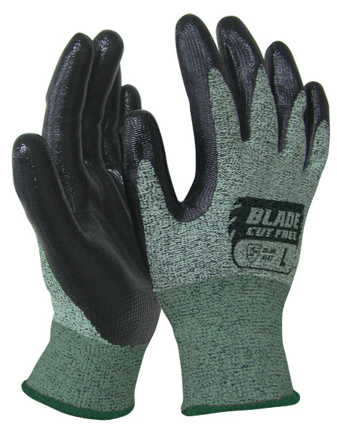 Armour Safety Products Ltd. - BLADE Flat Nitrile Cut 5 Open Back