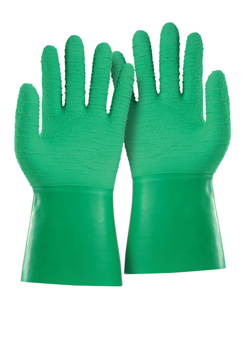 Armour Safety Products Ltd. - Green Crinkle Latex Gauntlet Glove - 30cm